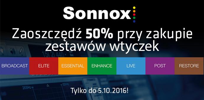 Wtyczki SONNOX o 50% taniej